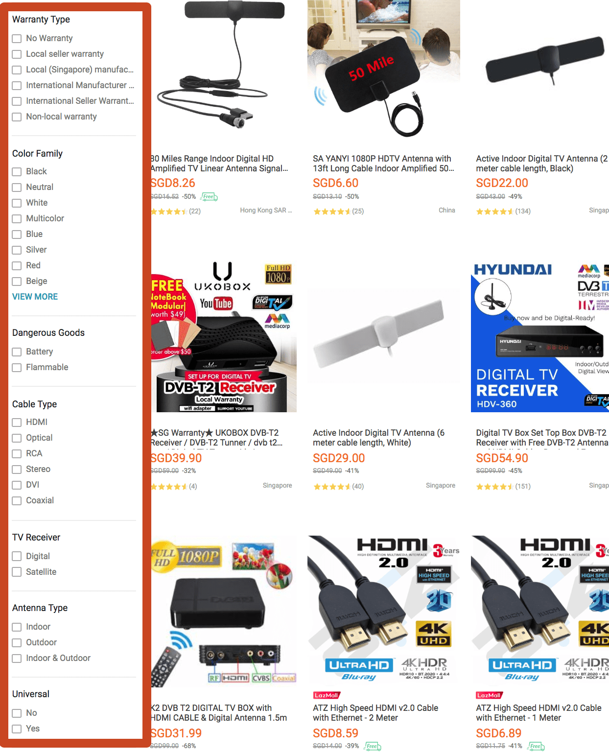 Other Attributes in Lazada Search Results Can Be Used by Buyers To Navigate