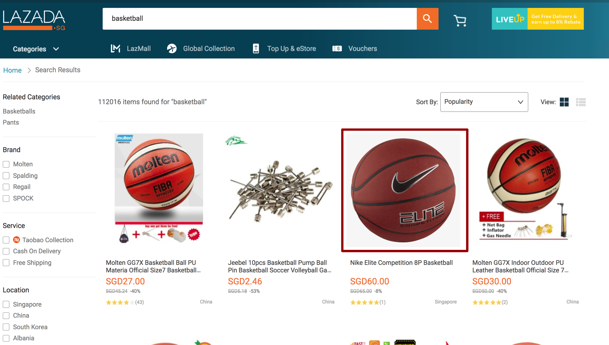 Product Image in Lazada Search Results View